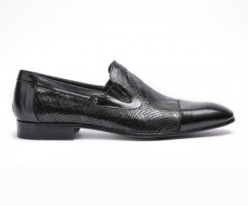 Pantofola vitello nero-60793