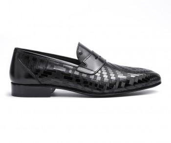 Pantofola vitello nera-60867