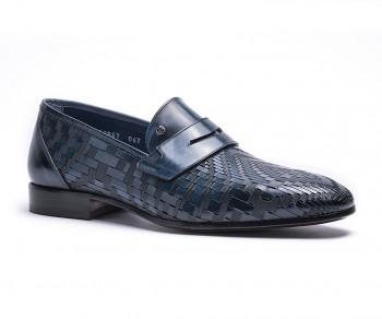 Pantofola vitello navy-60867