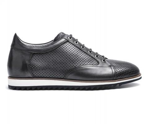 Sneaker pelle antracite-59858
