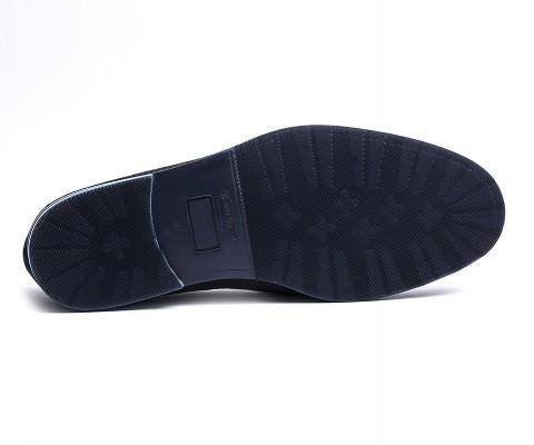 Mocassino camoscio blu-61125