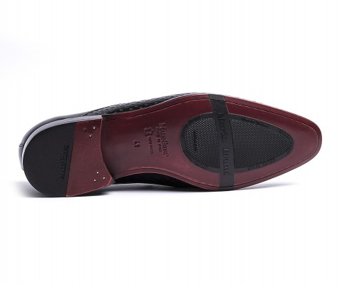 Pantofola vitello nero-60955