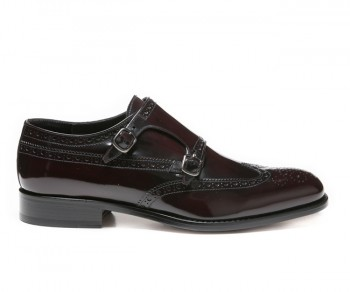 Double monk strap 59426-bordeaux