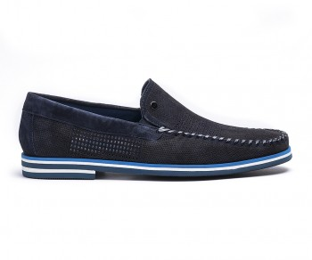 Loafers suede blue-61125