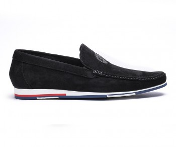 Loafers suede black-61178
